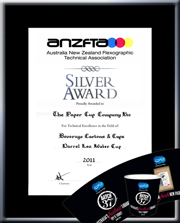 "TPCC proudly won ANZFTA Top Award in ""Beverage Cartons & Cups Halftone"" in 2010 - HighlyCommended_ElGran8oz"