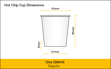 Hot Chip Cup 8oz 12oz Dimesnions Pp1